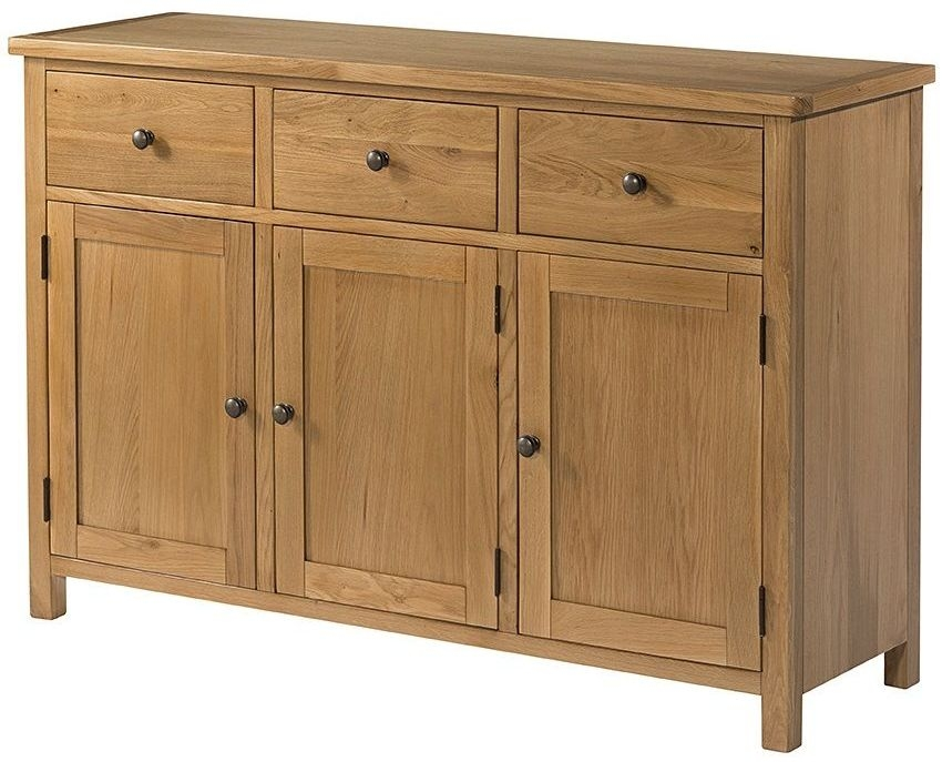 Devonshire Burford Oak Sideboard - 3 Door 3 Drawer