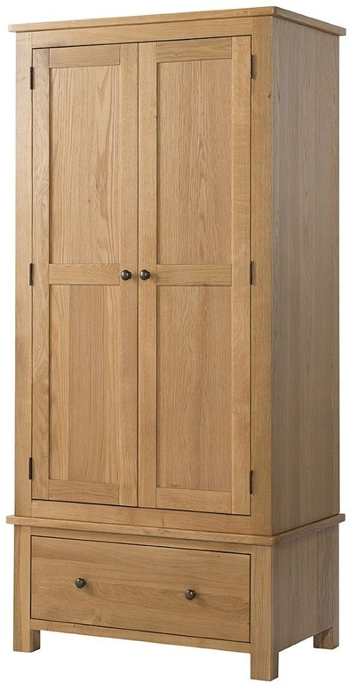 Devonshire Burford Oak Wardrobe - 2 Door 1 Drawer