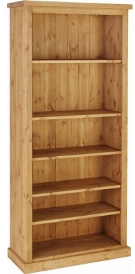 Devonshire Chunky Pine Bookcase - 6ft Tall