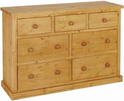 Devonshire Chunky Pine Chest of Drawer - Large 3+4 Drawer