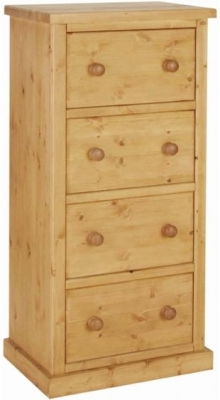 Devonshire Chunky Pine Chest of Drawer - Small 4 Drawer Wellington