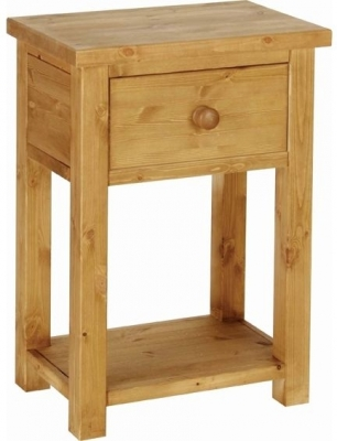 Devonshire Chunky Pine Console Table - 1 Drawer