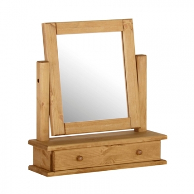 Devonshire Chunky Pine Mirror - Single 1 Drawer