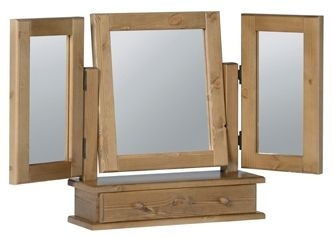 Devonshire Chunky Pine Mirror - Triple 1 Drawer