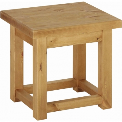 Devonshire Chunky Pine Side Table