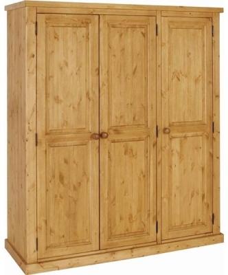 Devonshire Chunky Pine Wardrobe - Hanging 3 Door