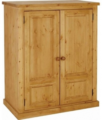 Devonshire Chunky Pine Wardrobe - Hanging Small 2 Door