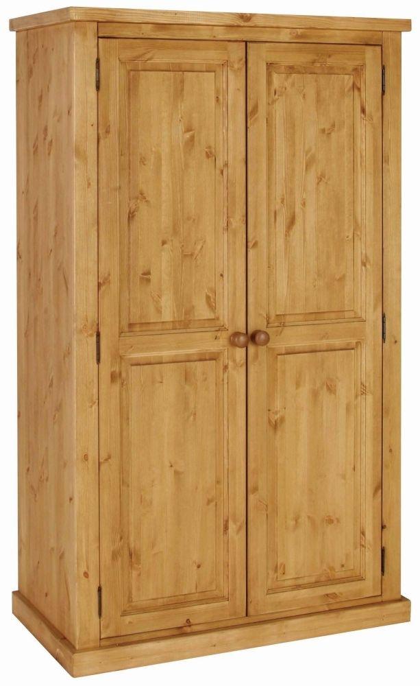 Devonshire Chunky Pine Kenilworth Lacquered 2 Door Wardrobe