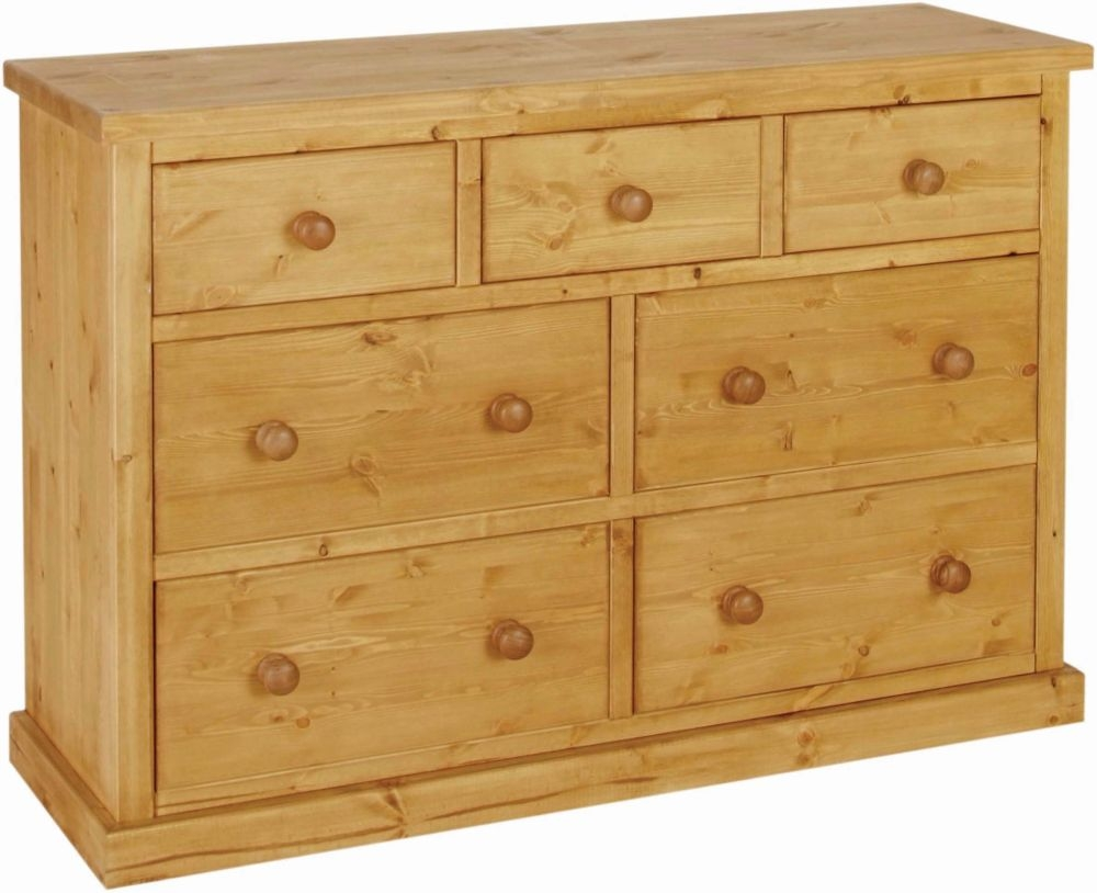 Devonshire Chunky Pine 3+4 Drawer Large Chest