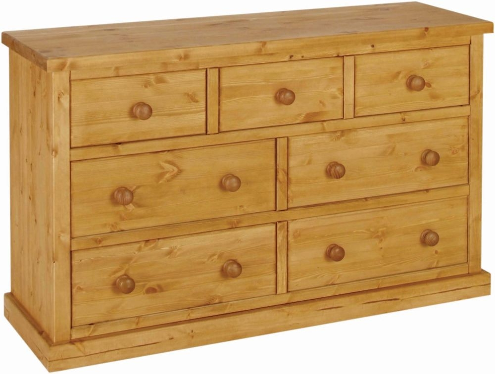 Devonshire Chunky Pine 3+4 Drawer Small Chest