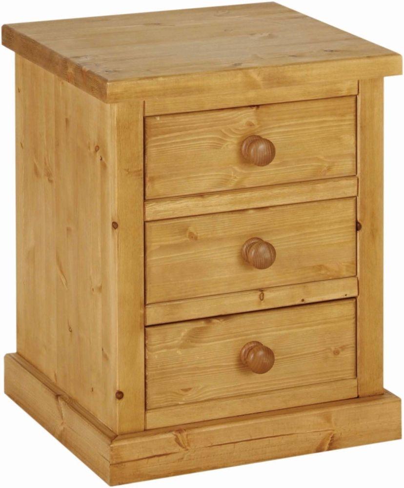 Devonshire Chunky Pine Bedside Cabinet
