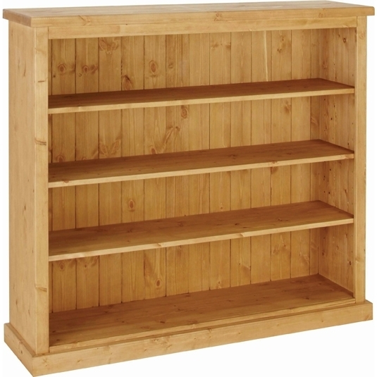 Devonshire Chunky Pine Bookcase - 4ft wide