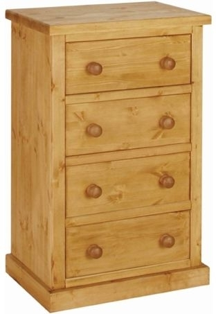 Devonshire Chunky Pine Chest of Drawer - Large 4 Drawer Wellington