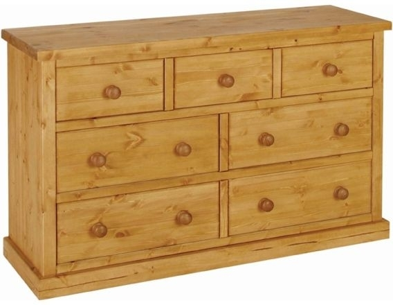 Devonshire Chunky Pine Chest of Drawer - Small 3+4 Drawer