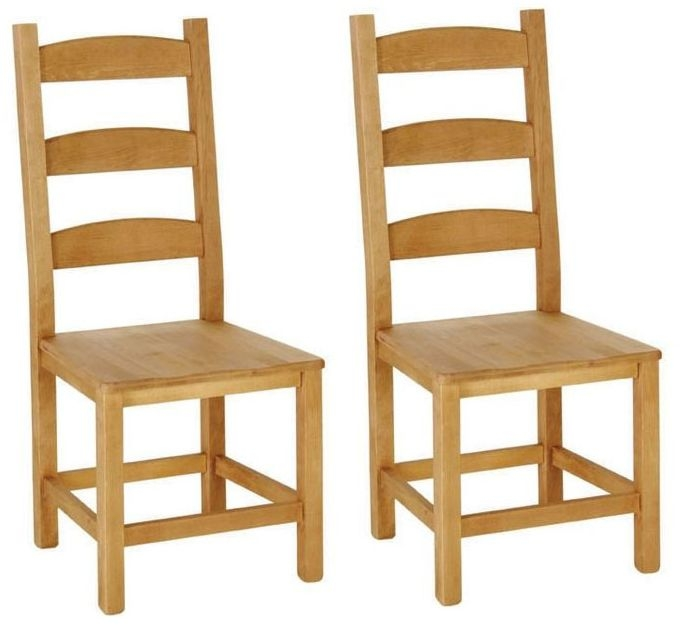 Devonshire Chunky Pine Amish Beech Dining Chairs (Pair)