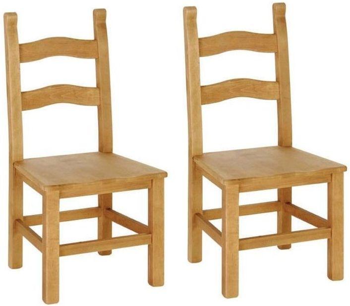 Devonshire Chunky Pine Breton Beech Dining Chairs (Pair)