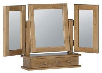 Devonshire Chunky Pine Mirror - Triple 1 Drawer