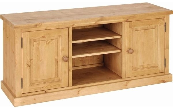 Devonshire Chunky Pine TV Unit - 2 Door