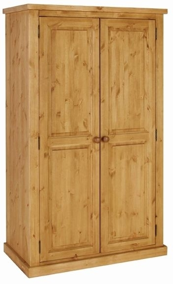 Devonshire Chunky Pine 2 Door Double Wardrobe - H 181cm