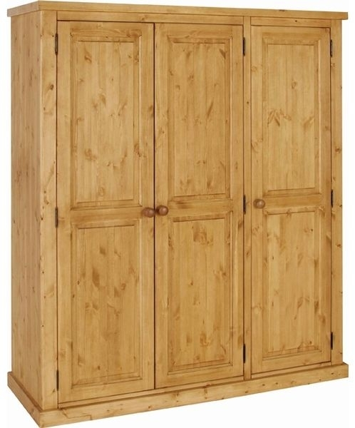 Devonshire Chunky Pine Triple Wardrobe - 3 Door