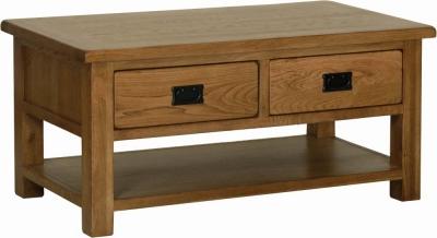 Clearance - Rustic Oak Storage Coffee Table - New - FSS3310