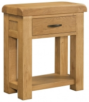 Devonshire Clovelly Oak 1 Drawer Console Table