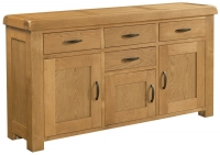 Devonshire Clovelly Oak 3 Door 4 Drawer Wide Sideboard