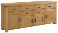 Devonshire Clovelly Oak 4 Door 6 Drawer Wide Sideboard