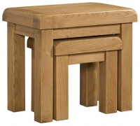 Devonshire Clovelly Oak Nest of 2 Tables