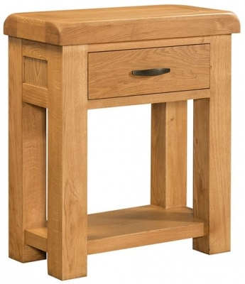 Devonshire Clovelly Oak Console Table - 1 Drawer