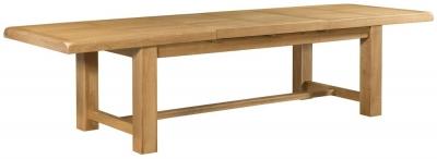 Devonshire Clovelly Oak Rectangular Extending Dining Table - 220cm-320cm