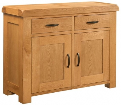 Devonshire Clovelly Oak Sideboard - 2 Drawer 2 Door