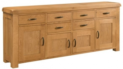 Devonshire Clovelly Oak Sideboard - 6 Drawer 4 Door