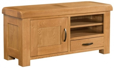 Devonshire Clovelly Oak TV Unit - 1 Drawer 1 Door