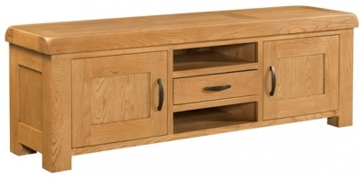 Devonshire Clovelly Oak TV Unit - 1 Drawer 2 Door