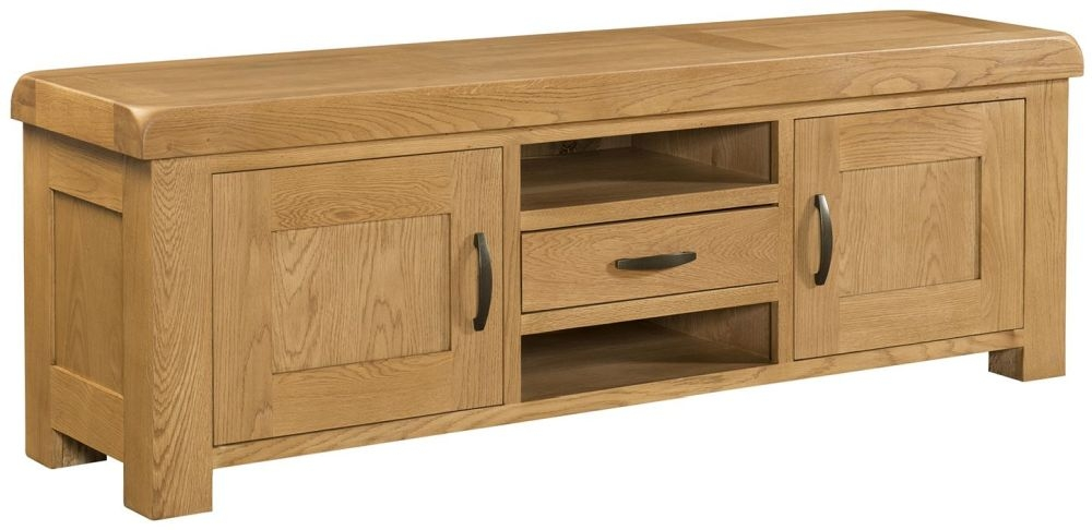 Devonshire Clovelly Oak 2 Door 1 Drawer TV Unit