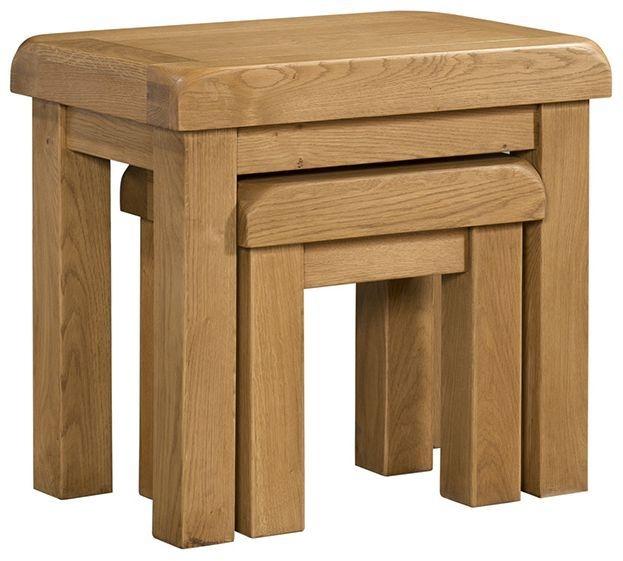 Devonshire Clovelly Oak Nest of Table