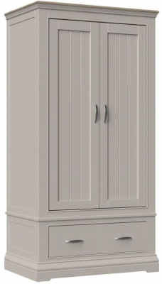 Cobble Mist Painted 2 Door Double Wardrobe