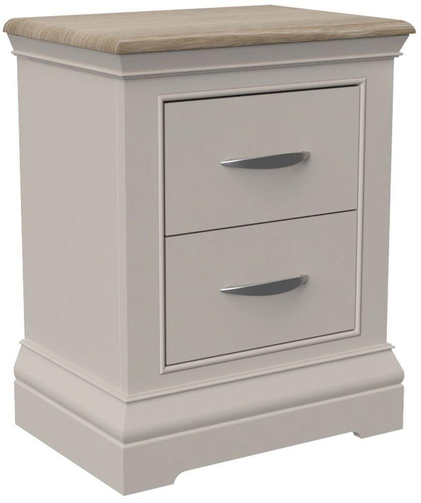 Cobble Mist Painted 2 Drawer Bedside Cabinet