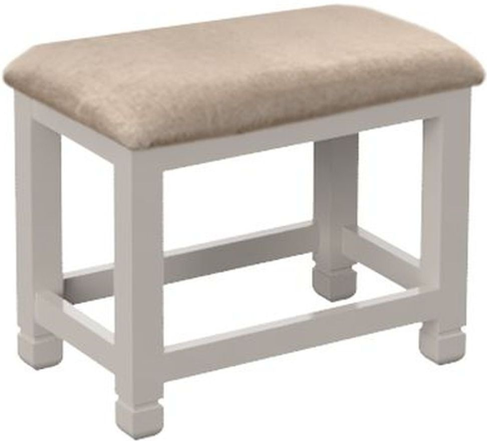 Cobble Mist Painted Dressing Table Stool