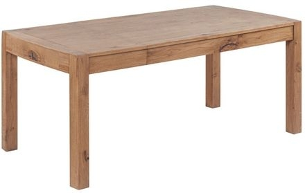 Devonshire Como Oak Dining Table - 125cm-160cm Rectangular Extending