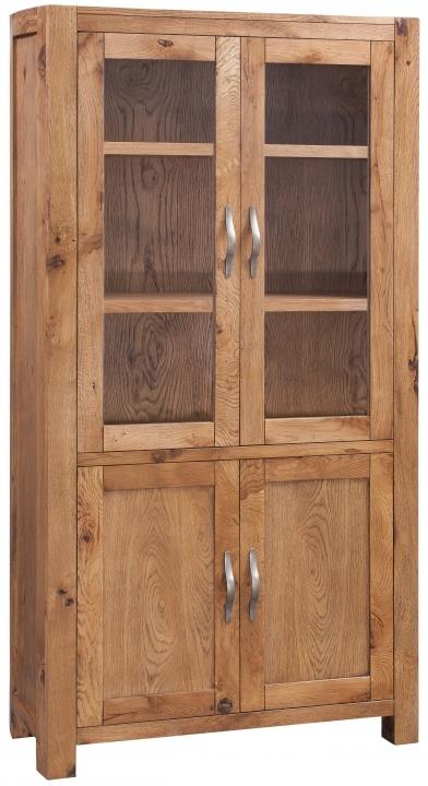Devonshire Como Oak Display Cabinet