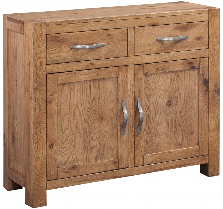 Devonshire Como Oak 2 Door 2 Drawer Narrow Sideboard