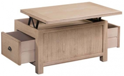 Devonshire Coniston Light Grey Storage Coffee Table with Lid