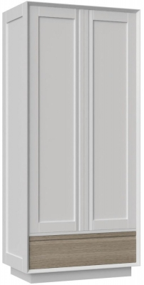 Corton Light Grey Painted 2 Door Double Wardrobe