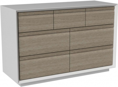 Corton Light Grey Painted 3+4 Drawer Combi Chest