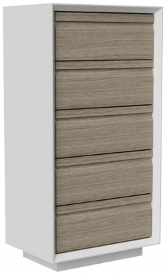 Corton Light Grey Painted 5 Drawer Wellington Chest