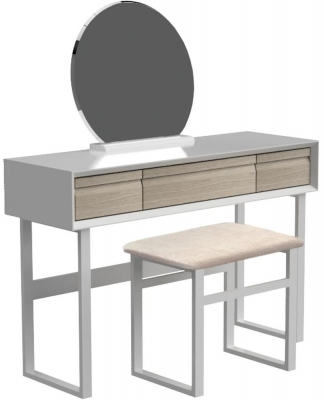 Corton Light Grey Painted Dressing Table Set