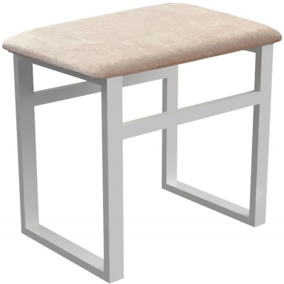 Corton Light Grey Painted Dressing Table Stool