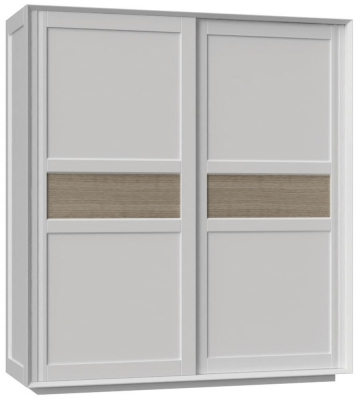 Corton Light Grey Painted Sliding Wardrobe